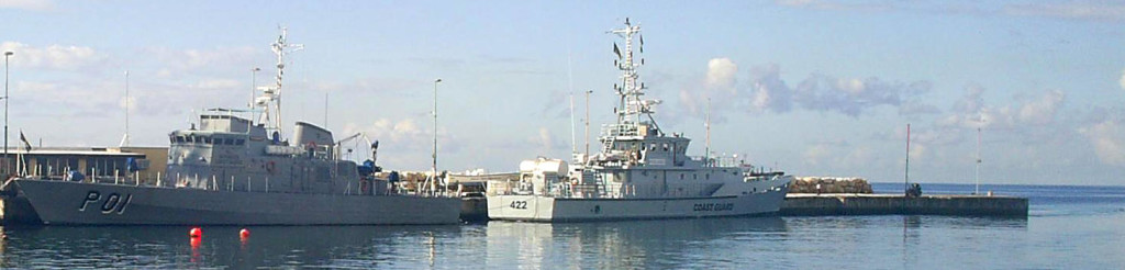Her Majesty's Barbados Ships, Barbados Coast Guard HQ, Fort Willoughby, Barbados, West Indies.