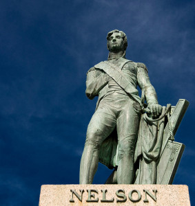 Lord Nelson, Bridgetown, Barbados - erected in 1813, 27 years before London's Lord Nelson column. Sculpted from bronze by Sir Richard Westmacott, it is considered to be an accurate likeness of the British Admiral.